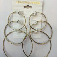 Yellow Gold Plated Hoop Earrings
