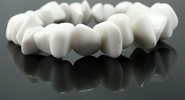 Semi Precious White Stone Bracelet